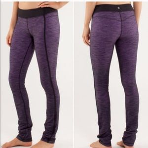 Lululemon Purple Slub forme pants legging size 6